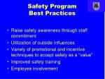 safety program best practices