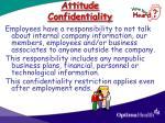 attitude confidentiality