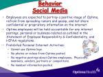behavior social media