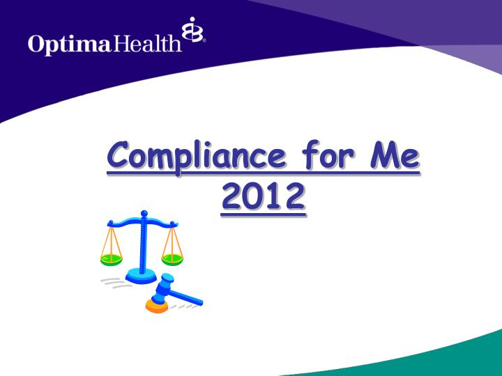 compliance for me 2012 n.