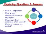 exploring questions answers