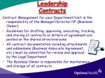 leadership contracts