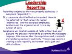 leadership reporting