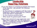 leadership reporting violations