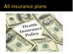 all insurance plans