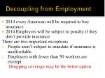 decoupling from employment
