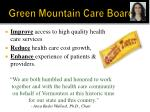 green mountain care board