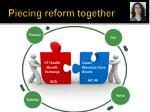 piecing reform together