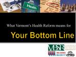 what vermont s health reform means for