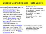 cheque clearing houses data centre