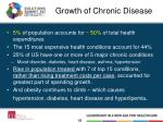growth of chronic disease