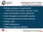 redesigning the process and patient experience