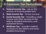 4 common tax deductions