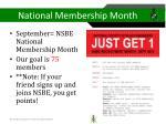 national membership month