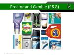 proctor and gamble p g