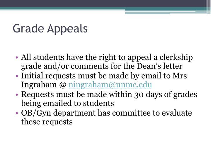 Grade Appeals