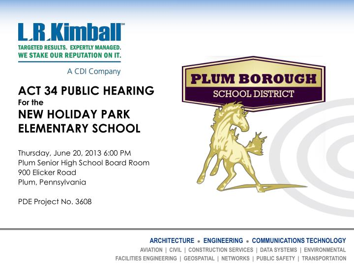act 34 public hearing for the new holiday park elementary school n.