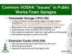 common vosha issues in public works town garages10