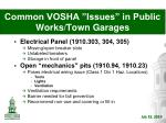 common vosha issues in public works town garages12