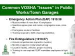 common vosha issues in public works town garages4