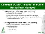 common vosha issues in public works town garages6