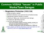 common vosha issues in public works town garages7