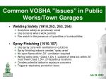 common vosha issues in public works town garages8