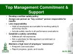 top management commitment support