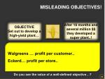misleading objectives