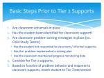 basic steps prior to tier 2 supports