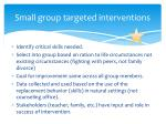 small group targeted interventions