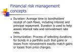 financial risk management concepts