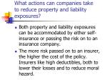 what actions can companies take to reduce property and liability exposures