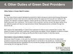 4 other duties of green deal providers
