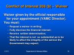 conflict of interest 208 b waiver1