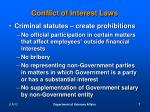 conflict of interest laws