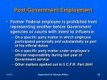 post government employment