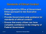 standards of ethical conduct