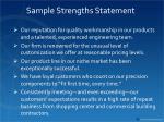 sample strengths statement