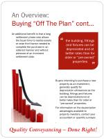an overview buying off the plan cont