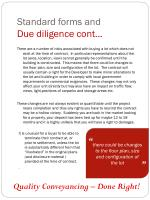 standard forms and due diligence cont