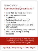 why choose conveyancing queensland