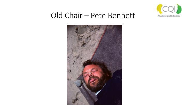 Old Chair – Pete Bennett