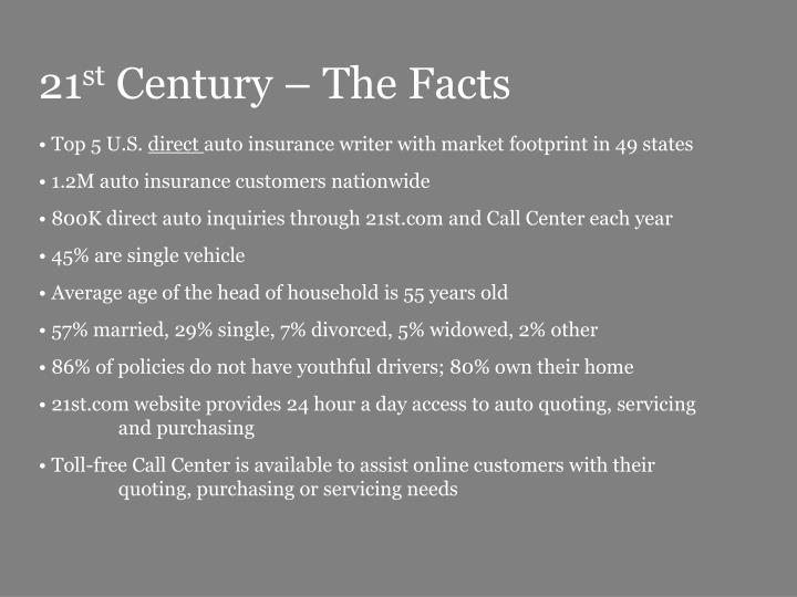 21 st century the facts