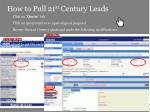 how to pull 21 st century leads5