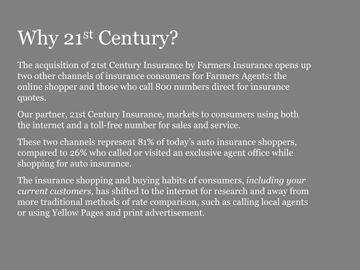 Why 21 st century