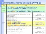 financial engineering minor