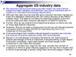 aggregate us industry data