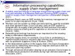 information processing capabilities supply chain management1