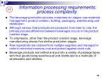 information processing requirements process complexity2